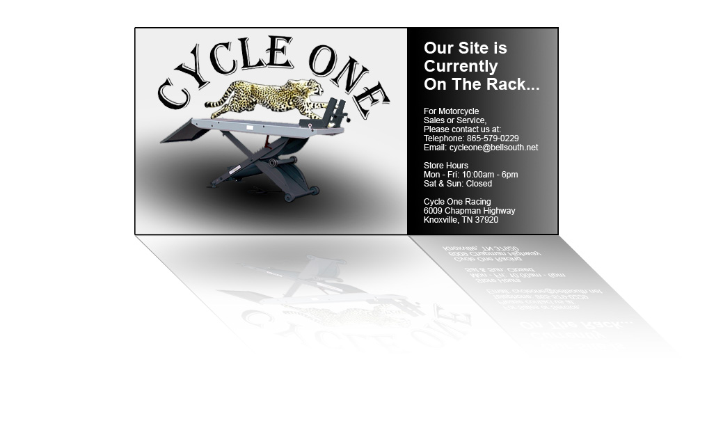 Cycle One Racing is Under Construction